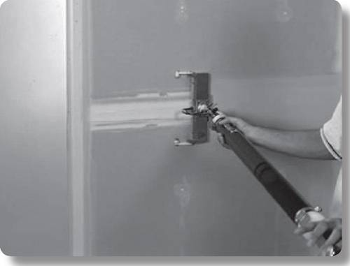 pneumatic drywall finishing tool