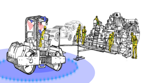 Object Detection and Camera System for Heavy Equipment